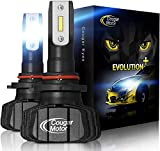 Cougar Motor 9005 Led headlight bulbs, 9600Lm 6500K (HB3) Fanless All-in-One Conversion Kit - 3D Bionic Technology