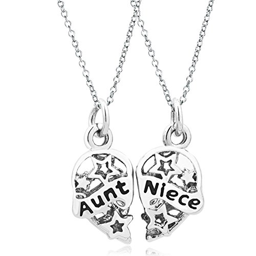 Uniqueen Jewellery New 2Pcs Heart Love Charm Necklace Pendant Including 18inch...
