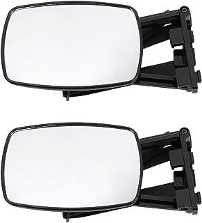 Garneck Espelhos de reboque universais para caravanas, espelho de reboque, extensão de reboque, espelhos de asa de braço l...
