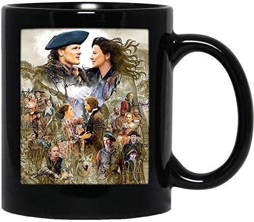 NA #Outlander Movie Image Cast Firmado Sam #Heughan #Caitriona Balfe Gift Mug Taza de cerámica
