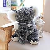 VERCART Jouet Peluche Aniamal d'imitation Koala Maman et bébé Enfant Coussin pour...