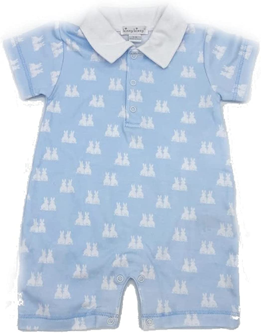 Animer and price revision Kissy Baby-Boys Infant Bunny Outlet sale feature Print White with Playsuit Short Col