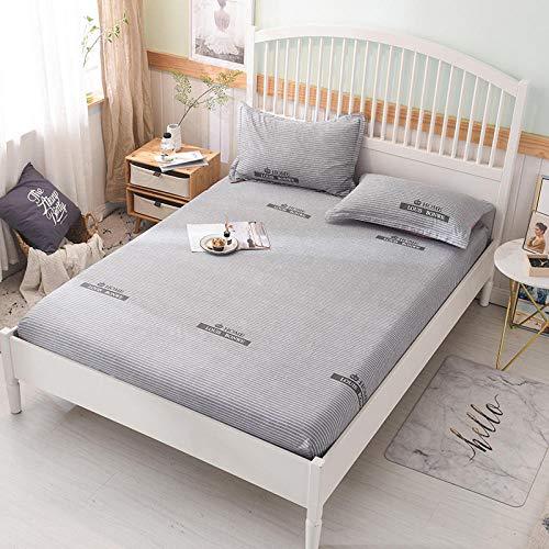 HPPSLT Protector de colchón/Cubre colchón Acolchado, Ajustable y antiácaros. Sábana de algodón Antideslizante de una Sola pieza-33_1.8 * 2m