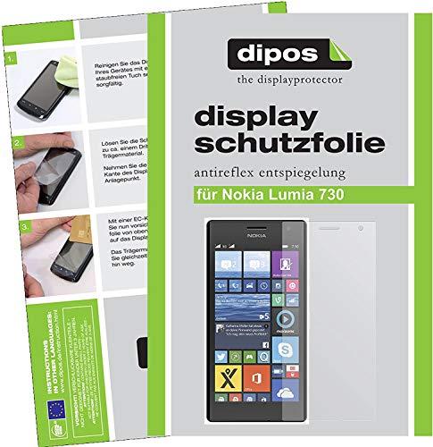 dipos I 6X Schutzfolie matt kompatibel mit Nokia Lumia 730/735 Folie Bildschirmschutzfolie