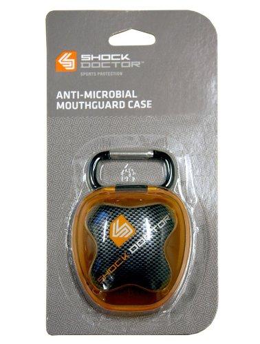 Silverton Zahnschutz Shock Doctor Mundschutz Aufbewahrungsbox , orange/schwarz
