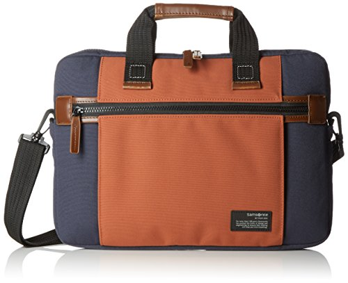 "Samsonite Sideways Laptop Sleeve 15.6"" Bolso Bandolera, 8.9 Litros, Color Azul/Naranja"