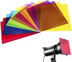 14 Pack Colored Overlays Transparency Color Film Plastic Sheets Correction Gel Light..