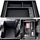 JOJOMARK Center Console Organizer Tray fits for 2019-2021 GMC Sierra/Chevy Silverado 1500 Accessories 2020-2021 Chevy Silverado/GMC Sierra 2500 HD/3500 HD -Full Center Console Models Only(Black)
