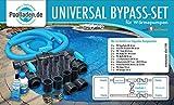 well2wellness Pool Bypass Set Universal pour Pompes à Chaleur, Chauffage des piscines et Chauffage Solaire