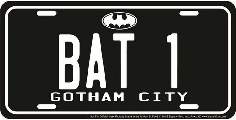 Signs 4 Fun SLTV08 License Batman Large discharge sale Ranking integrated 1st place Plate