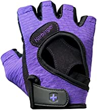 Harbinger Women's Flexfit Wash and Dry Weightlifting Gloves with Padded Leather Palm (Pair) (2017 Model), Purple, Medium