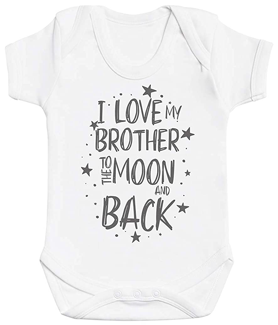 I Love My Brother to The Moon and Back Funny Baby Bodysuit Unisex Baby Onesies