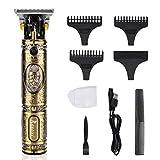 Haarschneider Elektrischer RIRGI Profi 0mm T-Blade Trimmer USB-Wiederaufladbar Haarschneidemaschine...
