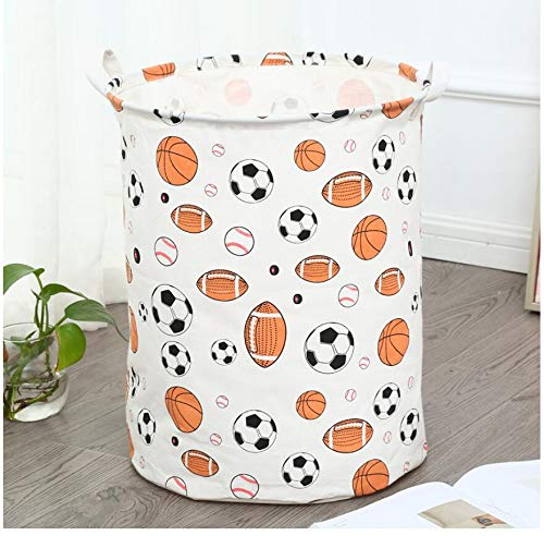 TIANLING Storage box Football excavator Waterproof Laundry Hamper Portable Clothes Storage Baskets Home decoration barrel Folding kids toy organizer