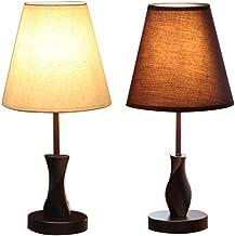 Moderne Massief Hout Stof Tafellamp Slaapkamer Nachtlampje Dimmen Afstandsbediening Decoratieve Tafellamp