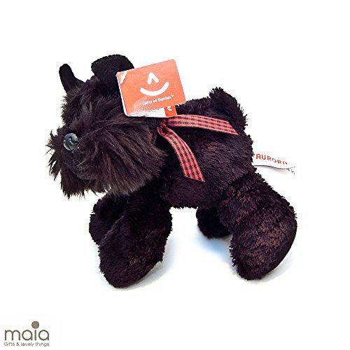 Aurora, liegender Scotty-Hund, Scottish Terrier, Plüschtier, 15 cm, Modell 60324