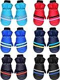 6 Pairs Kids Winter Snow Mittens Waterproof Warm Ski Gloves Unisex Gloves for Cold Weather Children (for 3 - 6 Years)