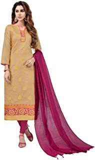 Ready to Wear Variant Colored Banarasi Jaquard Fabric Embroidered Salwar Suit