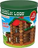 LINCOLN LOGS – Classic Meetinghouse - 117 Parts - Real Wood Logs - Ages 3+ - Collectible Tin - Best Retro Building Gift Set for Boys/Girls – Creative Construction Engineering – Preschool Education Toy