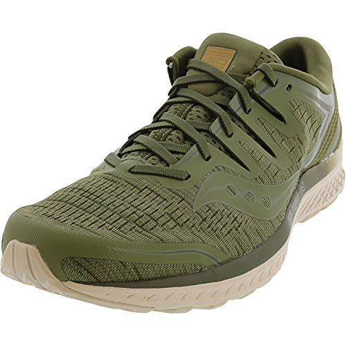 Saucony Men's Guide ISO 2 Running Shoe, Olive Shade, 11