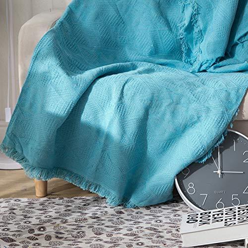 LMDY Coperta per Decorazioni per la casa Coperta per Divano Blue Diamond Coperta Coperta Multifunzionale per Quattro Stagioni Asciugamano per Divano in Tinta unita180*180CM