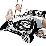 Juego de funda nórdica de 3 piezas con estampado fino y decoración del espacio exterior Pequeño chimpancé con casco Cosmos futurista y Galaxy Discovery Juego de funda nórdica y funda de almohada Tamañ