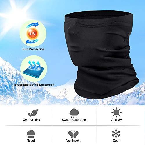 TOPLUS Halstuch Multifunktionstuch Schlauchtuch Kopfbedeckung Stirnband schnelltrocknend atmungsaktiv UPF 50+ kühl hochelastisch für Outdoor Sport Fahrrad/Motorradfahren