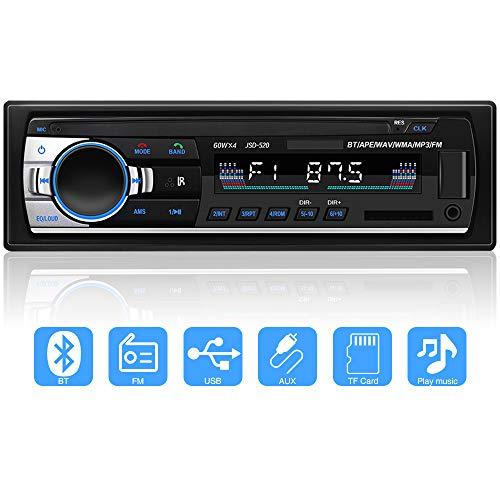 YYKJ Autoradio mit Bluetooth In-Dash 1 Din Autoradio, SD/USB/BT Autoradio, AUX MP3 Multimedia Player