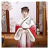 YUNGYE Disfraz de hanfu de otoño e invierno para niñas de estilo chino de Hanfu Super Fairy Dress Tang Suit Ropa para niña (color: estilo A, tamaño: 160 cm)