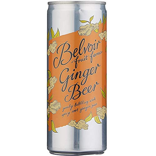 Belvoir Ginger Beer Presse in Cans 250ml (Pack of 12)