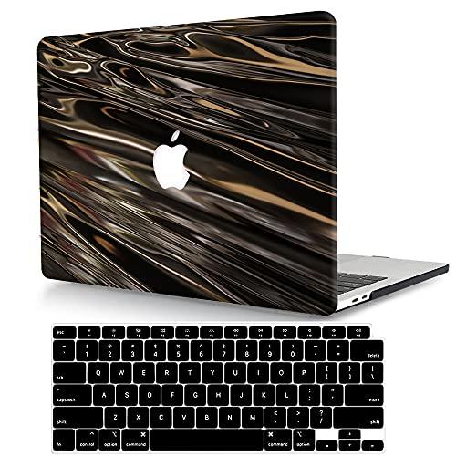 ACJYX Compatible con MacBook Pro 13 Case 2020 2019 2018 2017 2016 Release A2338 (M1) A2251 A2289 A2159 A1989 A1706 A1708, carcasa rígida de plástico y cubierta para teclado, color marrón