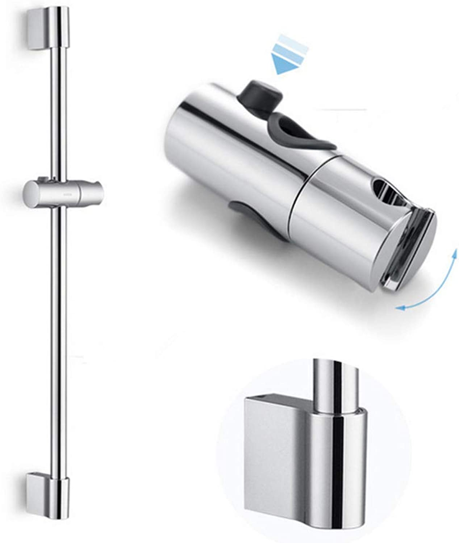 SUNSHINE HOME&3 Shower Riser Rail 655mm Round Stainless Steel Chrome Finish Handheld Adjustable