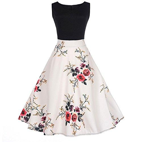 SEWORLD Elegant Kleid Damen Heißer Einzigartiges Design Mode Frauen Elegant Abendkleid Vintage...