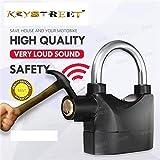 KEYSTREET™ 110db Steel Security Anti-Theft Siren Alarm Lock Motor for Home, Bike, Shop
