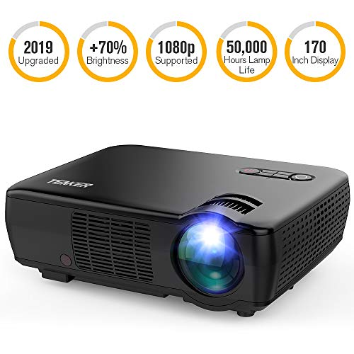 "TENKER Movie Projector, Full HD 1080p 3200 Lumens Portable Video Projector Mini Home Theater 5.0"" LCD Projector with 176"" Display Compatible with HDMI/iPhone/IPAD/TV Stick/PS4//VGA/AV/USB"