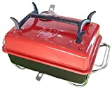 Raptor Grilling's Money Saving, Clean Hands, Large Portable Charcoal Grill -RED- VR10017AA