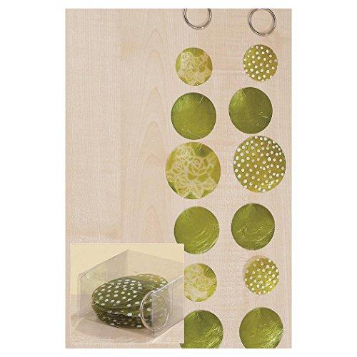 Zimmergirlande, Dekogirlande Capiz aus Runden Elementen, in grün, Sortiert, Länge ca. 180 cm 2 Stück