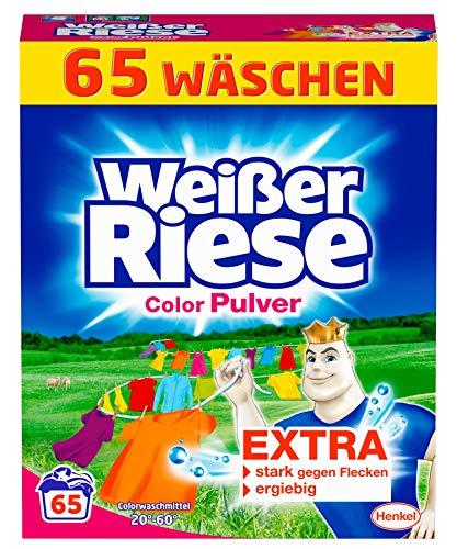 Weißer Riese Color Pulver, Colorwaschmittel, 1er Pack (1 x 65 Waschladungen)