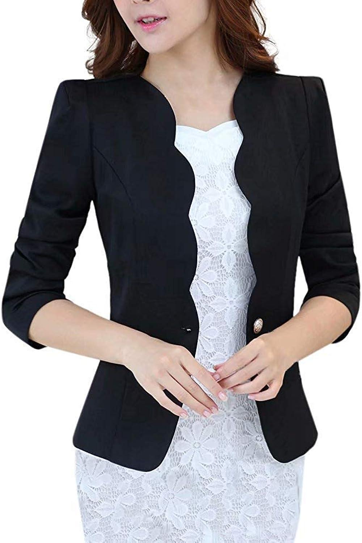 LATUD Women's One Button Curved Jacket Suit