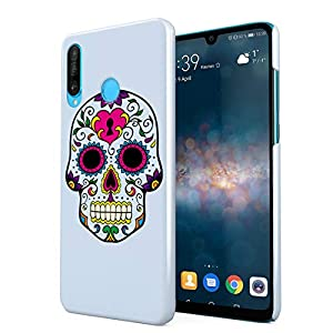 Blue Native Sugar Candy Mexican Skull Hard Thin Plastic Phone Case Cover For Huawei P30 Lite