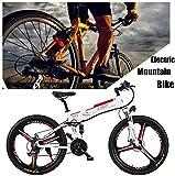 Bicicleta de montaña eléctrica plegable Bicicleta eléctrica Frenos de disco dobles para adultos Bicicleta de suspensión Marco de aleación de aluminio Medidor LCD inteligente 7 velocidades (48 V, 350 W