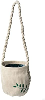 "Digital Shoppy IKEA Hanging Planter, Beige Handmade, 9 cm (3 ½ "")"