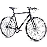 "28"" Zoll FIXIE RENNRAD URBANRAD SINGLE SPEED KCP FG1 FLAT 2016 FIXED GEAR schwarz"