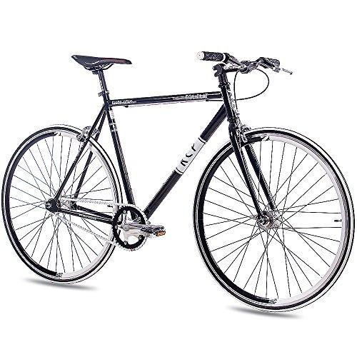 "28\"" Zoll Fixie RENNRAD URBANRAD Single Speed KCP FG1 Flat 2016 Fixed Gear schwarz, Rahmengröße:56 cm"