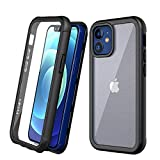 Szfirstey Bumper Case Compatible with iPhone 12 Mini case Case 5.4 inch(2020), Built-in Screen Protector Full Body Rugged Shockproof Dust Proof Case Support Wireless Charging (Black)