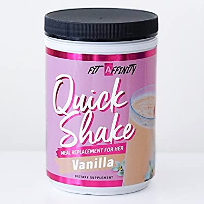 Fit Affinity Quick Shake - Meal Replacement for Her (Vanilla)
