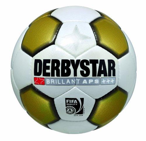 Derbystar Fussball Brillant APS Gold Neu, Weiss/Gold/Schwarz, 5