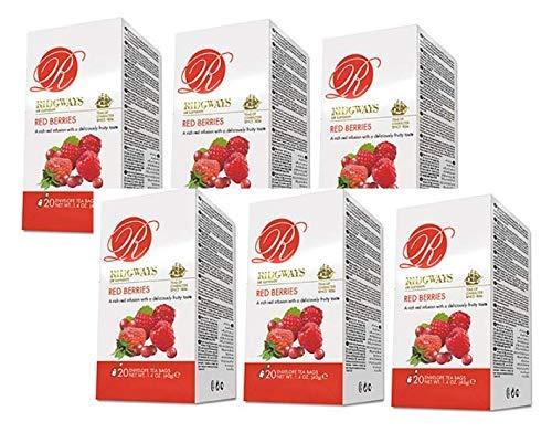 Ridgways of London Red Forest Berries Infusion Mora Fresa Frambuesa Arandano Rico Sabor Deliciosamente Afrutado - 6 x 20 Bolsitas de Te (240 Gramos)