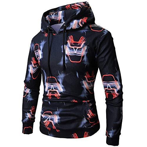 KangJiaoNanG heren pullover lange 3D druk met capuchon pullover casual mode slank kleding