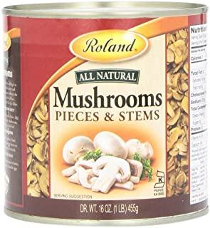 Roland Mushrooms, Pieces & Stems, 16 Ounce (Pack of 4)